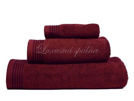 Froté ručník PREMIUM, BORDOEAUX, Frahmsohn